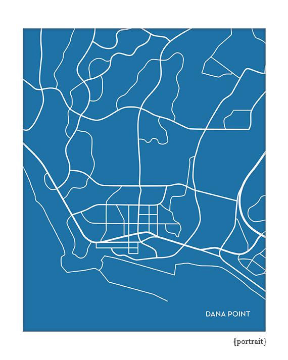 dana point california city map on