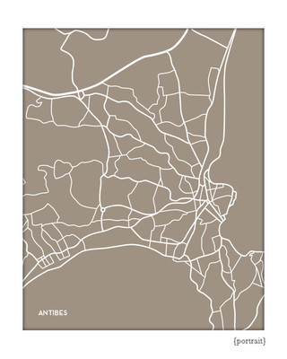 Antibes France city map