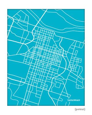 Savannah Georgia city map