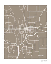 Olympia Washington City Map