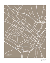 Albany city map print