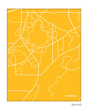 Muskego Wisconsin city map