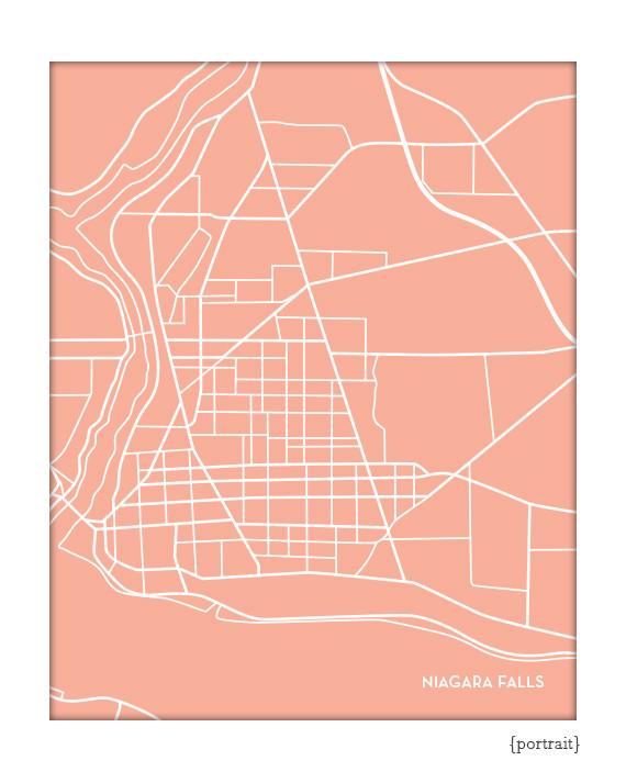 Niagara Falls New York Map