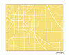 Lafayette Indiana city map print