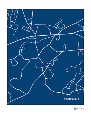 Centerville Massachusetts city map print
