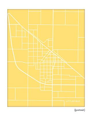 Littlefield Texas city map