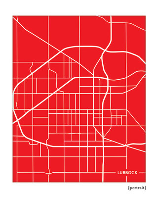 Lubbock Texas city map