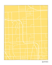 Troy Michigan City Map Art