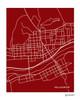 Williamsport PA city map print