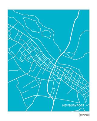 Newburyport Massachusetts city map