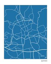Brno Czech Republic city map art