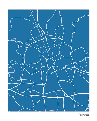 Brno Czech Republic city map art