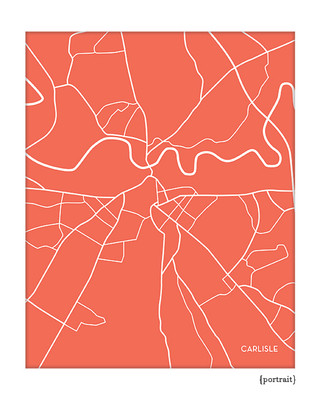 Carlisle England UK City Map