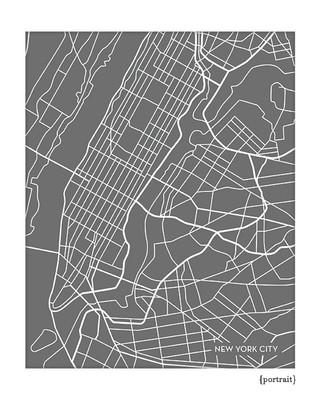 New York City Map Art