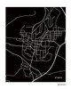 Athens Ohio City Map Print