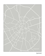 Moscow Russia city map art