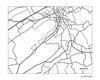Bristol Tennessee City Map art print
