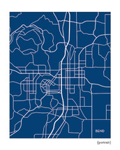 Bend Oregon city map art
