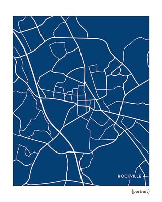 Rockville Maryland City Map Print