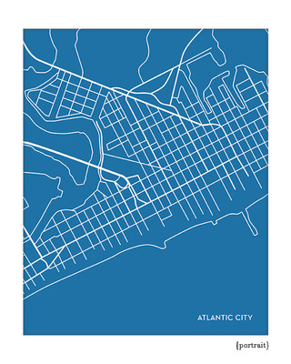 Atlantic City NJ map