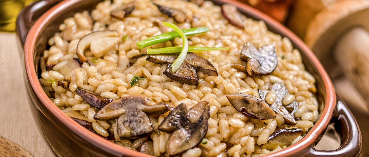 Bolete Risotto is a creamy, meaty risotto with delicious  dried porcini mushrooms