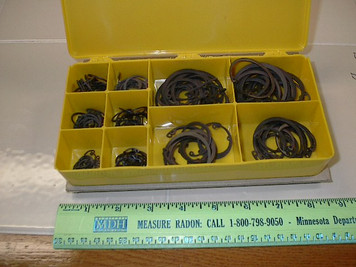 "13045 150pc Internal Retaining rings, 14 SIZES 1/2""-1.75"""