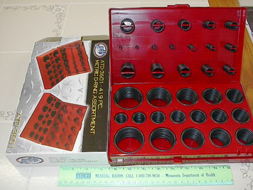 O-Ring Kit, 407pc SAE Assortment in Sizing Box ATD-3600