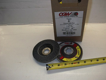 "4.5""x7/8"" Zerconia Flap Disc, Type 29, 36 or60 Grit. UPC# 42364"