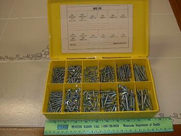 500pc Machine Screw Assortment, (Stove Bolt) 16 sizes