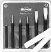 751K 6pc Punch & Chisel Kit, Mayhew Steel, USA 76005