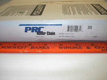 #80 10' Roller Chain Drives Inc. PRC w/connector link, Import