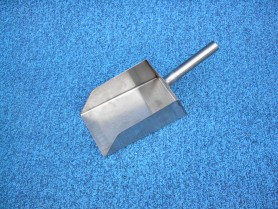Brooms, Scrapers: B-28 1lb. Protein Scoop, Stainless Steel, USA Thorp Equipment