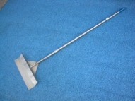 "Brooms, Scrapers: B-10, 24"" Stainless Steel Barn Alley Scraper. Thorp, USA"