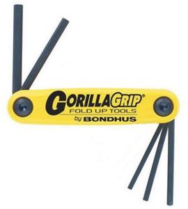 "Bondhus 12585 5pc GorillaGrip Hex Fold-up Keys 3/16-3/8"""