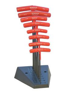 """Bondhus 15389 8pc Hex T-Handle Set w/ Stand, 9"""" Length, sizes 2-10mm"""
