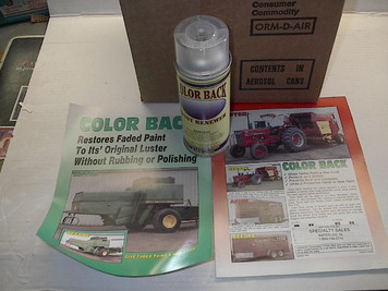 Color Back Paint Renewer, 12.8oz Aerosol, ColorBack, $/can