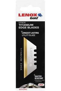 Lenox Gold 20350, Bi-Metal Utility Knife Blade, 5 Pack