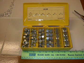 "89pc NYLON LOCK NUT SET 1/4""-3/4"" cold weather box"