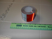 Reflective Tape, Red & White, DOT-C2