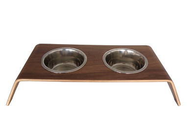 Walnut Dog Bowl