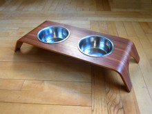 Bent wood Walnut Stand and Bowl
