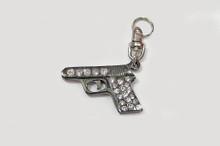 SALE! Crystal Gun Charm