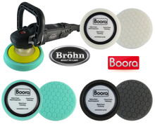 Brohn Black Ice Pro Car Polisher 1400W & Boora Professional Sponge Polishing Kit …