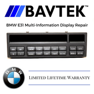 BMW E31 MULTI INFORMATION DISPLAY REPAIR