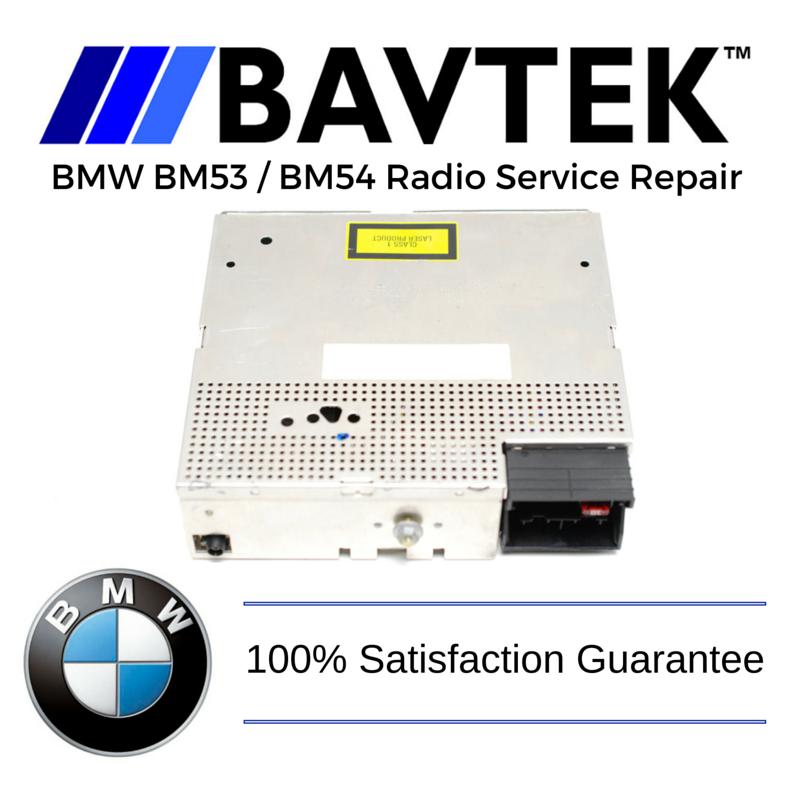 Bmw E38 E39 E46 E53 Bm53 Bm54 Radio Service Repair Bavtek Inc