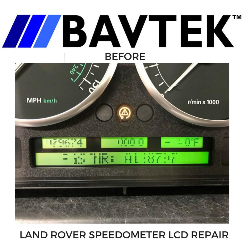 Land Rover Range Rover Speedometer Cluster Repair Service