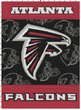 Atlanta Falcons Helmet Flag