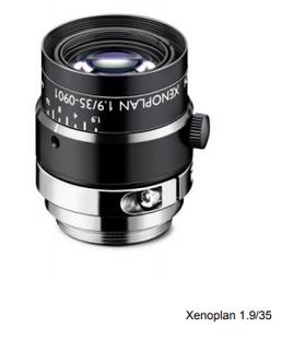 "Schneider Optics Xenoplan 21-1001960 2/3"" 35mm F1.9 Manual Iris C-Mount Lens, Visible Thru Near IR Corrected (400-1000nm), Compact Type"