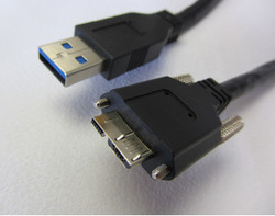 Intercon B3PMBT-3.0-PA 3-Meter USB 3.0 Cable with Thumbscrew Locking (to Camera)