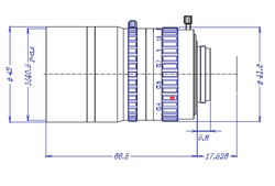 "Goyo Optical GMY31795MCN 2/3"" 17mm F0.95 Manual Iris C-Mount Lens, M40.5 x P0.5 Filter Thread"